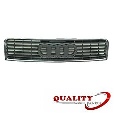 FRONT CENTRE RADIATOR GRILLE WITH CHROME TRIM AUDI A4 2000-2004 NEW HIGH QUALITY