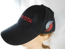 Toyota Baseball Hat Black with Portland Trailblazers Logo and Red Lettering