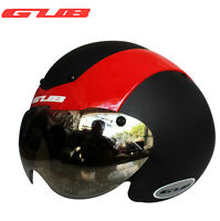 GUB Integrally-molded MTB Bike Road Bicycle Goggles TT Helmet With UV Visor New