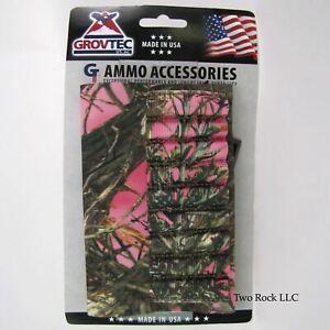 9-Round BUTTSTOCK - RIFLE AMMO Holder - TrueTimber Pink CAMO - Made in the USA