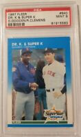 1987 FLEER ROGER CLEMENS & DWIGHT GOODEN BASEBALL CARD IN MINT CONDITION PSA CER