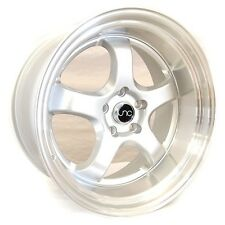 "19"" JNC017 V2 Wheel 19x9.5 19x10.5 Silver Machine Lip Rims 350z"
