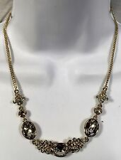 Givenchy Gold Tone Crystal Necklace With Clear Crystal Accents 2871
