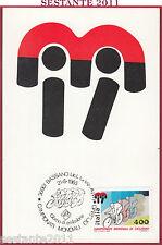 ITALIA MAXIMUM MAXI CARD ROMA 556 MONDIALI CICLISMO 1985 BASSANO DEL GRAPPA B776