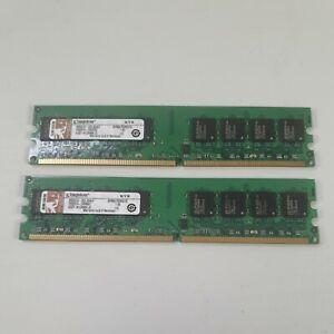 2GB 2x1GB Kingston KVR667D2N5/1G 667MHz DDR2 2RX8 Non-ECC 240-Pin Memory RAM