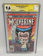 WOLVERINE LIMITED SERIES 1 CGC 9.6 Signed Frank Miller NEWSSTAND 🔥 SS NM+ WHITE