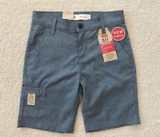 LEVI'S 511 Slim Short DRY UV Protection Boys Size 10 W25 STRETCH NEW NWT Blue
