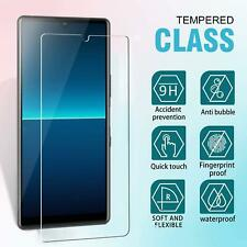 """For Sony Xperia L4, (6.2""""), Clear 9H Tempered Glass TOUGH Screen Guard Protector"""