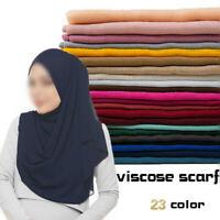 Frauen Plissee Crinkle Hijab Schal Faltige Schals Muslimischer Kopfwickel Scarf
