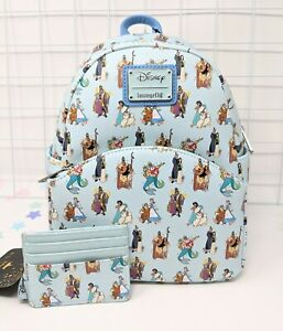 Loungefly Disney Princesses & Fathers Mini Backpack and Wallet Set