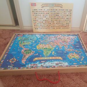 Use T.S.Shure Map Map of the worldJigsaw Puzzle,500pc wooden in keepsake woodbox