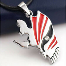 Bleach Necklace Anime Ichigo Half Face Hollow Mask Necklace Cosplay Pendant#226