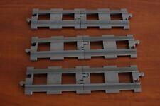 Lego Duplo Eisenbahn Train Set 2734-2 Straight Rails 6x Dark Bluish ( new ) Gray