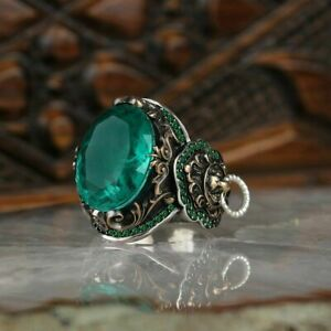 AAA QUALITY STERLING 925 SILVER JEWELRY PARAIBA TOURMALINE MEN'S RING
