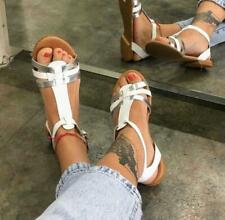 Sandalo donna in pelle
