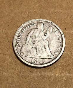 1875-CC 10C SEATED LIBERTY SILVER DIME