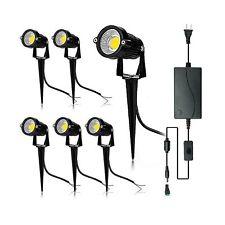 JESLED 5W LED Outdoor Landscape Lighting with Transformer, 12V Low Voltage 30...