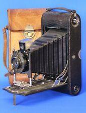 Vintage folding camera Eastman Kodak EKC leather case 1916 (back loose) *[19443]