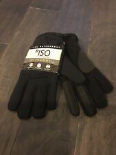 Isotoner Black Lined Ultra Dry Fleece Winter Gloves Size Medium Large New Men's