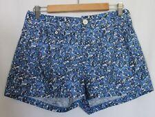 RAG & BONE ~ Summer Blue Cornflower Floral Cotton Shorts US 6 Aus 8