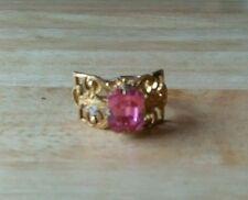 Rhinestone Ring Vintage Costume Jewellery