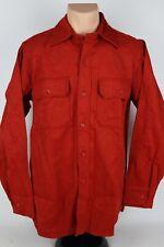 Vintage Woolrich Mens Large Burnt Orange Chamois Cloth Flannel Button Up Shirt
