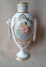 Antico VASO ROYAL VIENNA in porcellana dipinti a mano decorazione neoclassica Cherubini