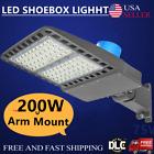 200W LED Parking Lot Light Outdoor Street Pole Shoebox Area Light Dusk To Dawn