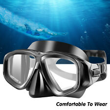 Scuba Diving Goggles Tempered Glass Mask Underwater Swim Anti Leak Adults Youth