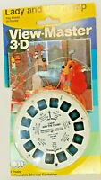 Disney Lady & the Tramp 1987 Vintage View-Master 21 3-D Pictures on 3 Reels