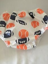 Gerber 2T Plastic Pants USA Made VINTAGE diaper cover Vinyl Sports Theme
