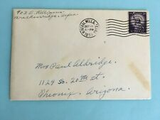 Christmas Greetings Card ~ with Stamp 1955 ~ Mineral Wells Texas
