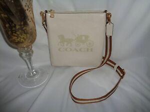 Coach 1897 Sporty Leather JES Slim Crossbody Small Handbag Chalk