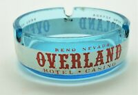 Overland Casino Reno Nevada Blue Ashtray Vintage