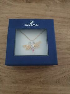 Swarovski Multicoloured Dragonfly Necklace BNIB