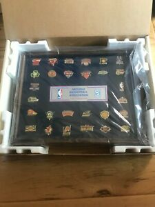 NBA Team Pin Collectors Framed Set New Old Stock 1980s