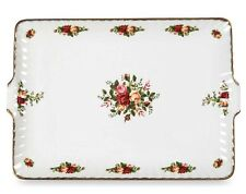 """Royal Albert OLD COUNTRY ROSES Serving Tray Rectangular Dish 13.5"""" Fluted New"""