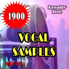 🎵 1900 Vocal Samples, High Quality, WAV, Create Music. Digital Pack, Woman, Men