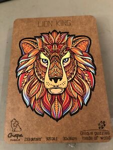 Chapa laser-cut wood jigsaw puzzle, Lion King, 233 pieces