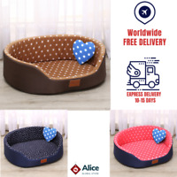 Top Quality Soft Washable Dog Pet Cat Bed Warm Basket Cushion With Soft Fleece