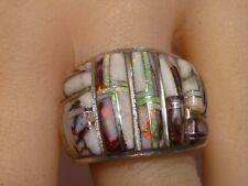 Stunning Ferris Studio Opal Channel Mosaic Inlay 925 Sterling Silver Ring
