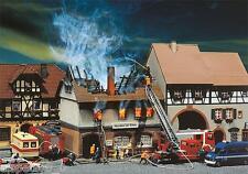 Faller 130429 gauge H0, Burned Ruin Restaurant for Sun, Kit 1:87