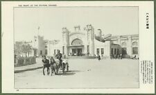 Kharbin, Manchuria. The Front Of Kharbin Railway Station c1920's.