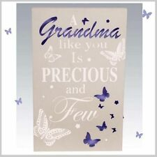 GRANDMA  WALL PLAQUE BUTTERFLY DESIGN WITH LED LIGHTS. MOTHERS DAY