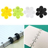 10X Plastic 20mm inner diameter book binding rings loose leaf notebook rings