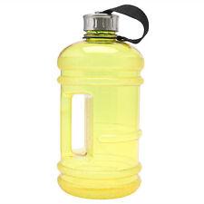 2.2l Big BPA Sport Drink Water Bottle Cap Kettle Gym Training Workout Yellow