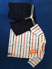 NWT Gymboree 3T Boy's Two Piece Anchor Shorts Outfit Set