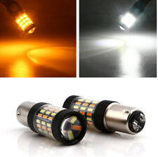 2pcs 1157 4014 Led Dual Color White Amber Switchback LED Turn Signal Light Bulb