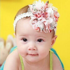 New Baby Flower Floral Headband Girl Lace Infant Hair Weave Baby Decro