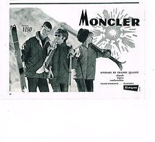 PUBLICITE ADVERTISING 034   1963   MONCLER   anoraks TERGAL    VISO